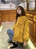 流行外套女韓版寬鬆秋季女裝新款工裝外套女休閒短款夾克學生   極有家