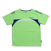 KAPPA義大利小朋友吸濕排汗速乾彩色圓領衫~螢光綠