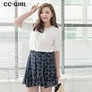 中大尺碼  百搭雪紡短裙~共兩色 - 適XL~4L《 66231J 》CC-GIRL
