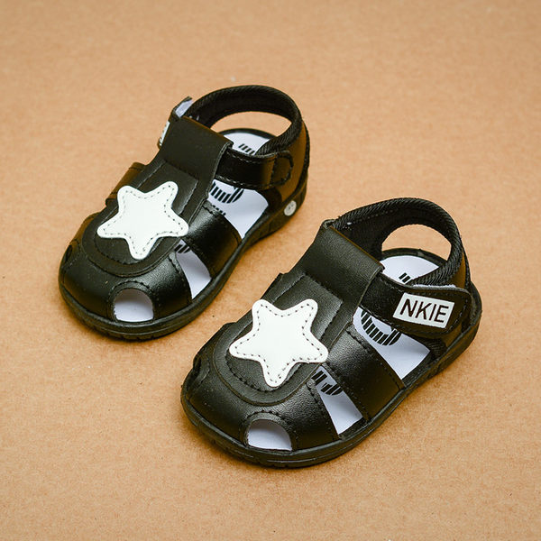夏季1-3歲男寶寶涼鞋學步鞋叫叫鞋兒童鞋女寶寶鞋嬰兒鞋軟底單鞋【快速出貨】