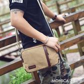 手拿包 手拿包時尚新款韓版手提潮包小包帆布包斜背休閒包單肩包男包包 莫妮卡小屋