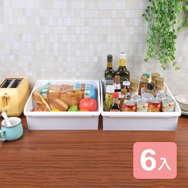 【南紡購物中心】《真心良品》卡菲附輪萬用收納盒11L-6入組