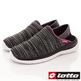 【LOTTO】EASYWEAR飛織輕走鞋-LT8AWX6000-黑-女段-(現)