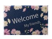【五折優惠】繁花盛開歡迎回家 防滑地墊 腳踏墊 地毯GBC-3224