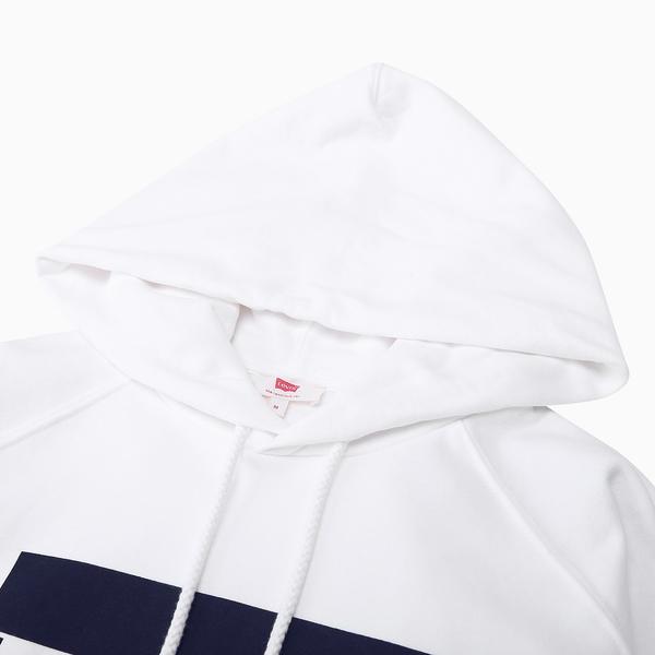 Levis 女款 重磅帽T / Sportwear Logo / 白
