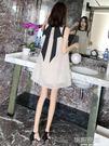 夏季雪紡很仙的法國小眾洋裝小個子女夏小清新桔梗裙子2019新款  韓語空間YTL