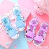 女童涼鞋 兒童涼鞋女夏季防滑卡通防滑兔子涼鞋大童寶寶沙灘鞋學生涼鞋 米蘭shoe
