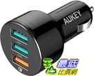 [9美國直購] AUKEY USB Car 車載充電器 42W Quick Charge 3 0 Car Charger for iPhone 11 iPad Pro