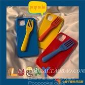 趣味個性叉子蘋果11promax手機殼iphone7全包8plus軟xr硅膠se夜市量販【小獅子】