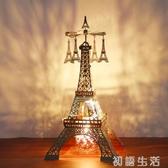 歐式巴黎鐵塔旋轉燭台走馬燈飛鳥星星浪漫燭光晚餐道具杯香薰香氛 初語生活