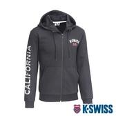K-SWISS CA Print W/Ks Logo Jkt刷毛連帽外套-男-黑