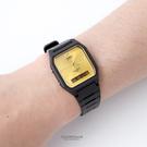 CASIO卡西歐方框金面雙顯膠錶 柒彩年代【NEC38】