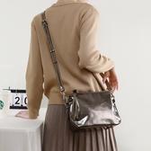 真皮側背包-亮面牛皮多隔層時尚女肩背包4色73yp47【巴黎精品】