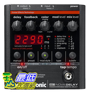 [104美國直購] TC Electronics 960610005 Nova Delay Guitar Delay Effects Pedal 吉他 延遲效果器
