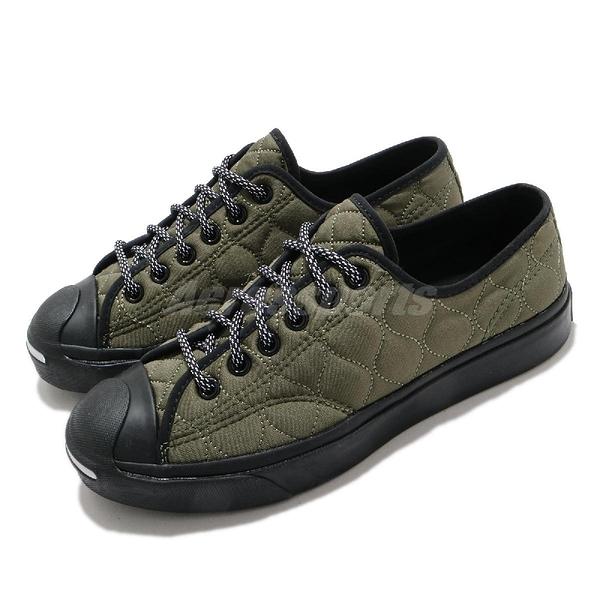 Converse 開口笑 Jack Purcell 綠 黑 絎縫內裏 男鞋 女鞋 軍裝風格 【ACS】 169598C