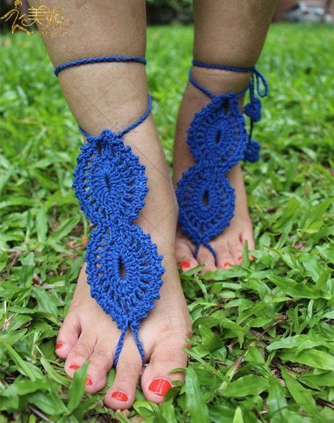 衣美姬♥ 視覺饗宴!歐美 編織圖騰 腳繩 沙灘 海邊戲水 必備腳背上 飾品 熱賣款