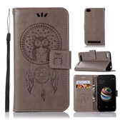 小米 紅米5 紅米5+ 紅米Note5 貓頭鷹風鈴 手機皮套 插卡 支架 皮套 掛繩 磁扣