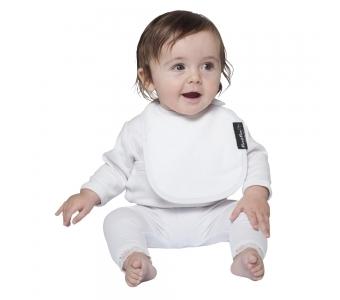紐西蘭 Mum 2 Mum 機能型神奇口水巾圍兜-初生款-白 吃飯衣 口水衣 防水衣