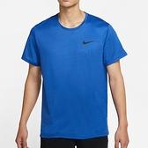Nike AS M NP DF HPR DRY TOP SS 男 藍 慢跑 運動 短袖 CZ1182-492