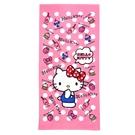 【Sanrio三麗鷗】凱蒂貓甜點浴巾 1...