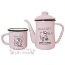 〔小禮堂〕Hello Kitty 琺瑯咖...