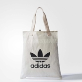 adidas 購物袋 Shopper Bag 黑 白 三葉草 Logo 環保 托特包 【ACS】 BQ7569