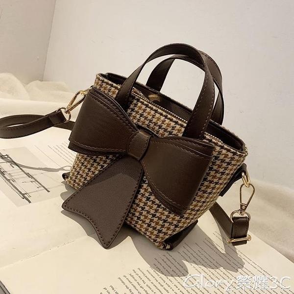 水桶包 網紅小包包女2021秋冬季新款潮時尚小眾斜背包百搭迷你水桶包  新品新包 618購物