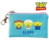 日本限定 迪士尼 玩具總動員 三眼怪 可愛造型繪圖版 雙面 鑰匙圈 零錢包 / 小物收納包