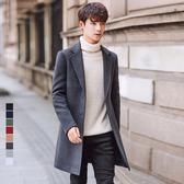 [現貨] 英倫時尚中長版毛呢大衣外套 質感西裝外套 小中大尺碼【QZZZTJBYD67】
