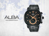 【時間道】SEIKO ALBA 特別限定版 都會型男時尚三眼計時腕錶 / 黑玫瑰(VD53-X295SD/AT3D23X1)免運費