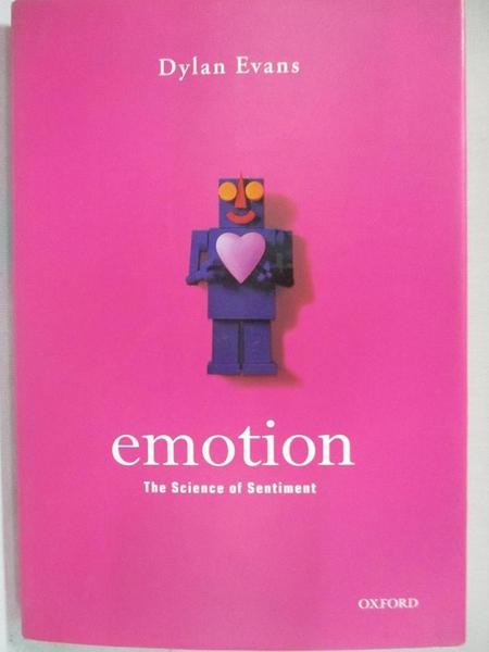 【書寶二手書T1/心理_BY3】Emotion: The Science of Sentiment_Evans, Dylan