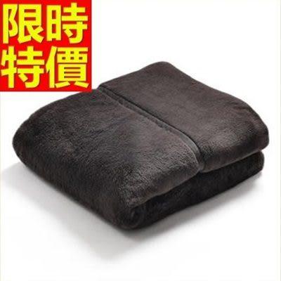 毛毯子冬款別緻-法蘭絨純色簡約加厚小毯被3色64d6[時尚巴黎]