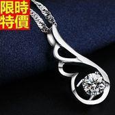 925純銀項鍊-精緻天使之翼生日情人節禮物吊墜子67o7【巴黎精品】