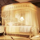 床雙人家用1.5m床伸縮落地公主風米三開門u型軌道禮物限時八九折