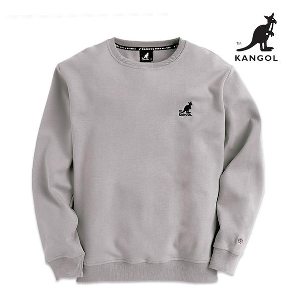 KANGOL 袋鼠 - 左胸刺繡小袋鼠大學T 炭灰【60551034】