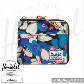 Herschel 皮夾 短夾  經典拉鍊零錢包 (新款) 彩繪花卉 Johnny-2459 得意時袋
