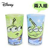 【日本正版】兩入組 三眼怪 玻璃水杯 玻璃杯 240ml 玩具總動員 迪士尼 Disney - 057481