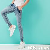 專櫃品jogger束口褲【P1888】OBI YUAN韓版鬼洗刷色仿舊單寧彈性牛仔褲
