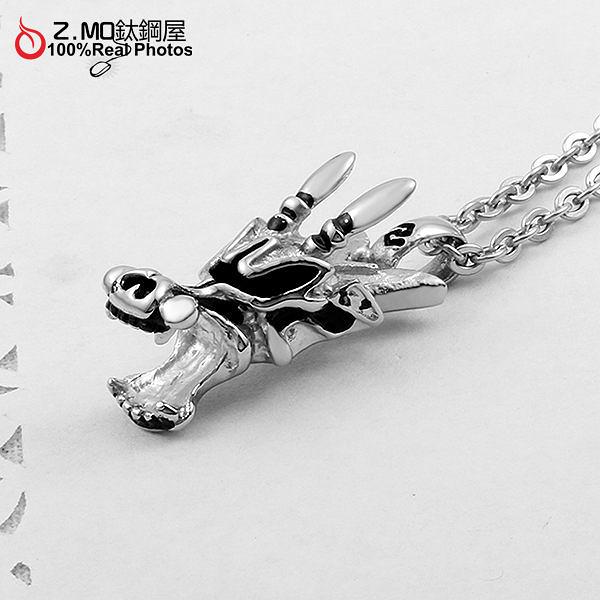 男性項鍊 Z.MO鈦鋼屋 飛龍在天 霸氣風格 中性項鍊 造型項鍊 白鋼項鍊【AHS160】單條價