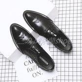 布洛克雕花男鞋2018夏季新款皮鞋男韓版英倫復古尖頭正裝休閒皮鞋