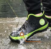 雨靴 雨鞋男低幫時尚男士雨鞋雨靴防滑膠鞋夏季短筒防水外賣雨鞋 非凡小鋪