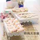 2件套甜品臺擺件展示架甜點糕點托盤擺臺蛋糕架子【時尚大衣櫥】
