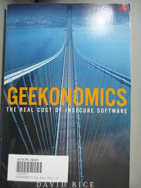 【書寶二手書T5/大學資訊_YCV】Geekonomics: The Real Cost of Insecure Software_Rice, David