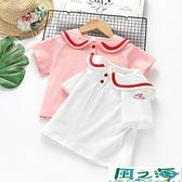 兒童短袖上衣女童短袖T恤中小童韓版百搭純棉兒童秋裝上衣 風之海