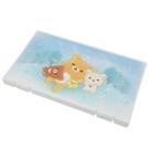 小禮堂 懶懶熊 日製 攜帶型塑膠口罩盒 隨身口罩盒 口罩夾 口罩套 (藍 星空) 4544815-05405