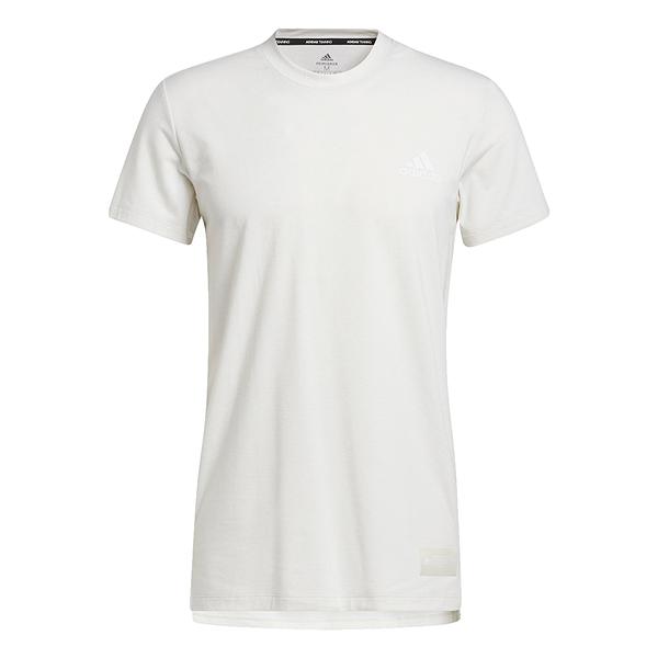 【現貨】Adidas STU TECH 男裝 短袖 T恤 慢跑 訓練 吸濕排汗 前短後長 白【運動世界】GL0446
