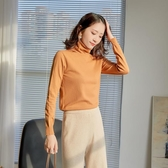 純棉t恤女裝2020新款秋冬學生韓版寬鬆長袖高領ins上衣氣質打底衫 嚴選