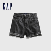 Gap女童時尚水洗五口袋牛仔短褲575104-黑色水洗