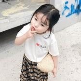 寶寶洋裝純色印花T恤女童韓版寬鬆短袖新款夏裝寶寶薄款上衣 降價兩天