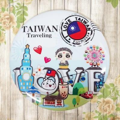 【冰箱貼】郵戳台灣 #  白板貼 冰箱貼 OA屏風貼 置物櫃貼 5.8cm x 5.8cm